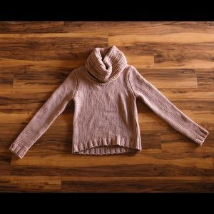 Sweaters - Cowl neck mauve sweater